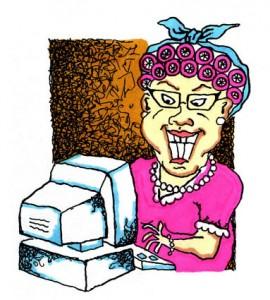 Betsy blogging